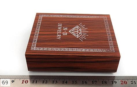 جعبه جواهر چوبی طرح الماس نشان - عکس 5
