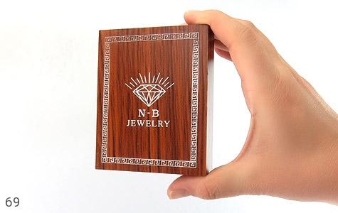 جعبه جواهر چوبی طرح الماس نشان - تصویر 6