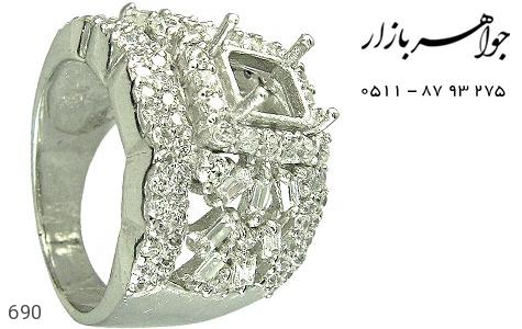 فریم نقره درشت اشرافی زنانه - عکس 1