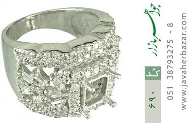 فریم نقره درشت اشرافی زنانه - کد 690
