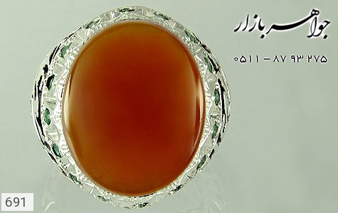 انگشتر عقیق قلم زنی علی مع الحق الحق مع علی دست ساز - عکس 3