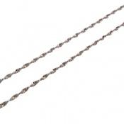 زنجیر نقره پیچ 40 سانتی درشت