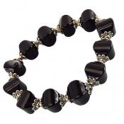 دستبند عقیق سلیمانی تراش ممتاز خوش نقش زنانه