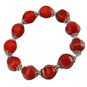 دستبند عقیق سرخ تراش ممتاز خوش رنگ زنانه