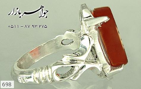 انگشتر عقیق حکاکی یا حضرت جواد الائمه - تصویر 4