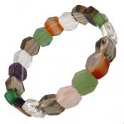 دستبند چندنگین شش ضلعی سنگ درمانی زنانه
