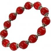 دستبند عقیق سرخ خوش رنگ زنانه