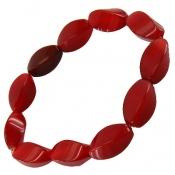 دستبند عقیق سرخ تراش ممتاز درشت زنانه