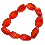 دستبند عقیق سرخ تراش ممتاز زنانه