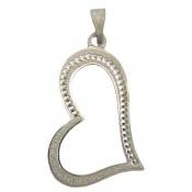 مدال نقره طرح قلب درشت زنانه