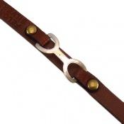 دستبند نقره و چرم اصل طرح فانتزی
