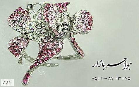 گل سر اتریشی طرح پروانه صورتی زنانه - تصویر 2