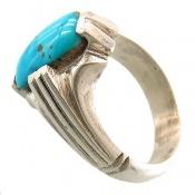 انگشتر فیروزه نیشابوری خوش نقش مردانه