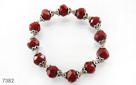 دستبند جید قرمز تراش زنانه - تصویر 2