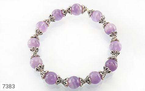 دستبند آمتیست خوش رنگ زنانه - عکس 1