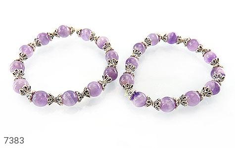 دستبند آمتیست خوش رنگ زنانه - عکس 3