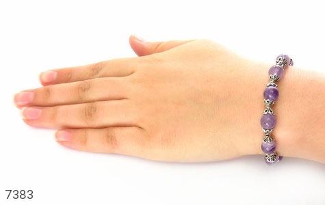 دستبند آمتیست خوش رنگ زنانه - عکس 5
