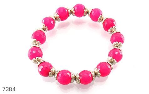 دستبند جید صورتی خوش رنگ زنانه - تصویر 2