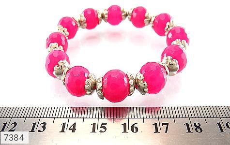 دستبند جید صورتی خوش رنگ زنانه - تصویر 4
