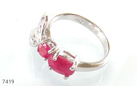 انگشتر یاقوت سرخ طرح ژینوس زنانه - عکس 1