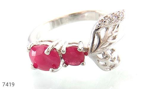 انگشتر یاقوت سرخ طرح ژینوس زنانه - تصویر 2