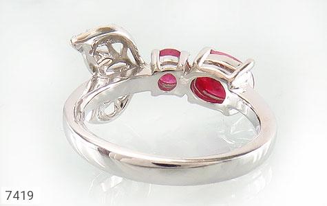 انگشتر یاقوت سرخ طرح ژینوس زنانه - تصویر 4