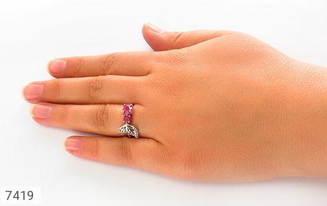 انگشتر یاقوت سرخ طرح ژینوس زنانه - تصویر 6