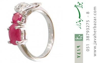 انگشتر یاقوت سرخ طرح ژینوس زنانه - کد 7419