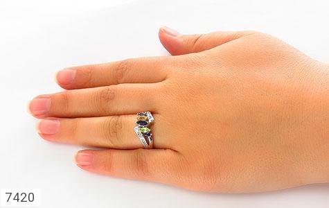 انگشتر یاقوت و سیترین و زبرجد طرح ونوس زنانه - تصویر 6