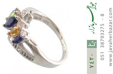 انگشتر یاقوت و سیترین و زبرجد طرح ونوس زنانه - کد 7420