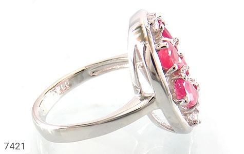 انگشتر یاقوت سرخ درخشان طرح کاملیا زنانه - عکس 3