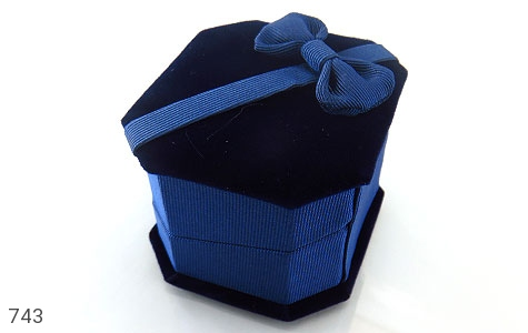 جعبه جواهر انگشتری مخمل - عکس 1