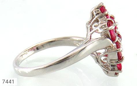 انگشتر یاقوت سرخ درخشان زنانه - تصویر 2