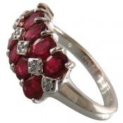 انگشتر یاقوت سرخ پرنگین طرح یگانه زنانه