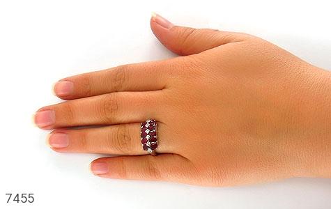 انگشتر یاقوت سرخ پرنگین طرح یگانه زنانه - تصویر 6