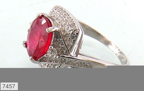 انگشتر یاقوت سرخ درخشان طرح موژان زنانه - عکس 1