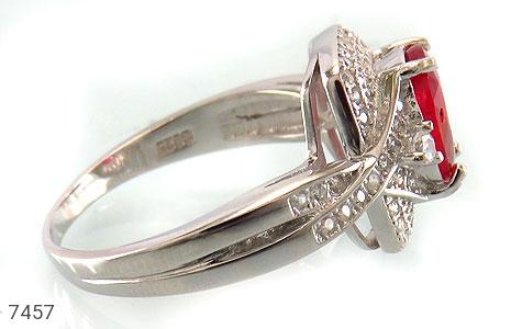 انگشتر یاقوت سرخ درخشان طرح موژان زنانه - عکس 3