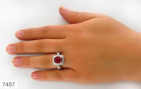 انگشتر یاقوت سرخ درخشان طرح موژان زنانه - تصویر 6