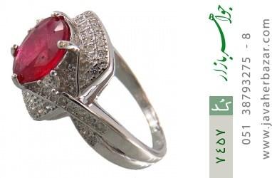 انگشتر یاقوت سرخ درخشان طرح موژان زنانه - کد 7457