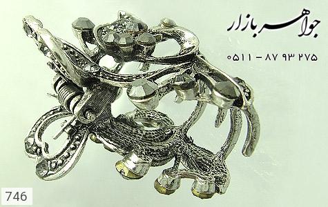 گل سر سیاه قلم نگین مشکی زنانه - عکس 3