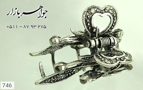 گل سر سیاه قلم نگین مشکی زنانه - تصویر 4