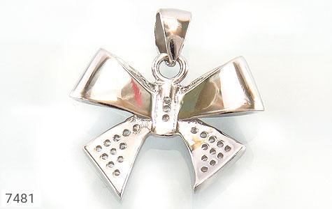 مدال نقره میکرو طرح پاپیونی زنانه - تصویر 2