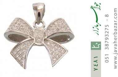 مدال نقره میکرو طرح پاپیونی زنانه - کد 7481