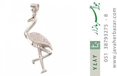 مدال نقره فانتزی طرح فلامینگو زنانه - کد 7482