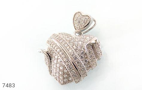 مدال نقره فانتزی طرح قلب زنانه - عکس 1