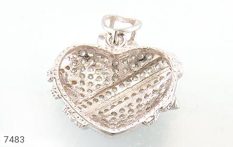 مدال نقره فانتزی طرح قلب زنانه - تصویر 2