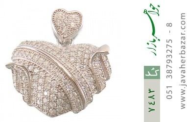 مدال نقره فانتزی طرح قلب زنانه - کد 7483