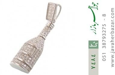 مدال نقره میکرو طرح فانتزی زنانه - کد 7484