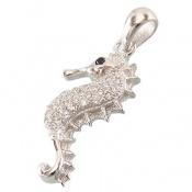 مدال نقره فانتزی طرح اسب دریایی زنانه