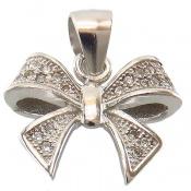 مدال نقره فانتزی طرح پاپیون زنانه